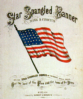 The Star-Spangled Banner lyrics - National anthem of the United States of America.