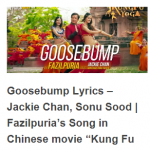 Goosebump Lyrics – Latest Punjabi Song of Fazilpuria