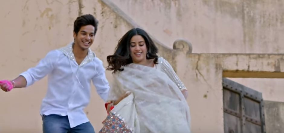 musti of dhadak bollywood movie janhvi kapoor in holi shoot
