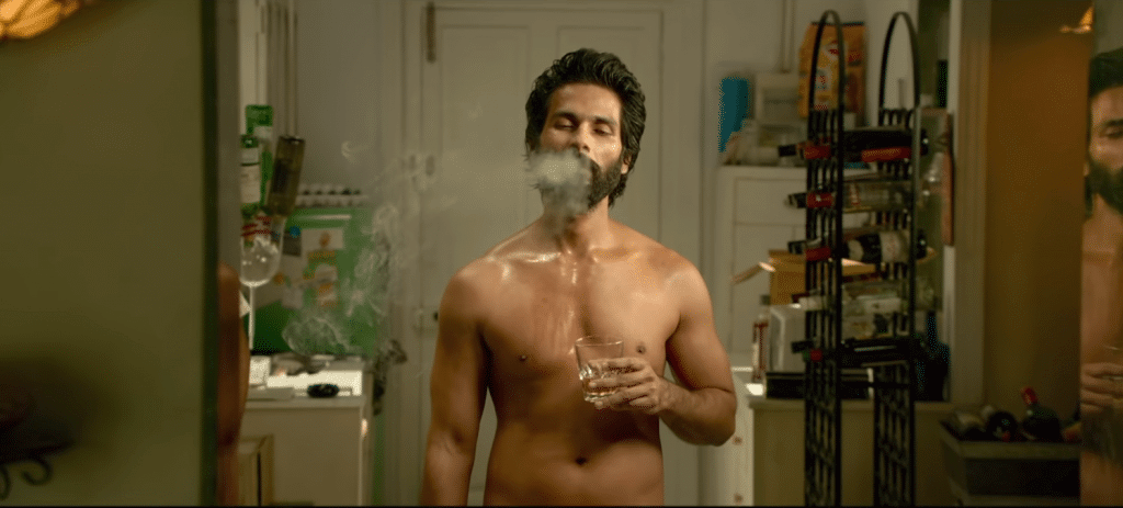Alcohol & drug addicted image of Shaid kapoor in movie kabir singh 2019 nude