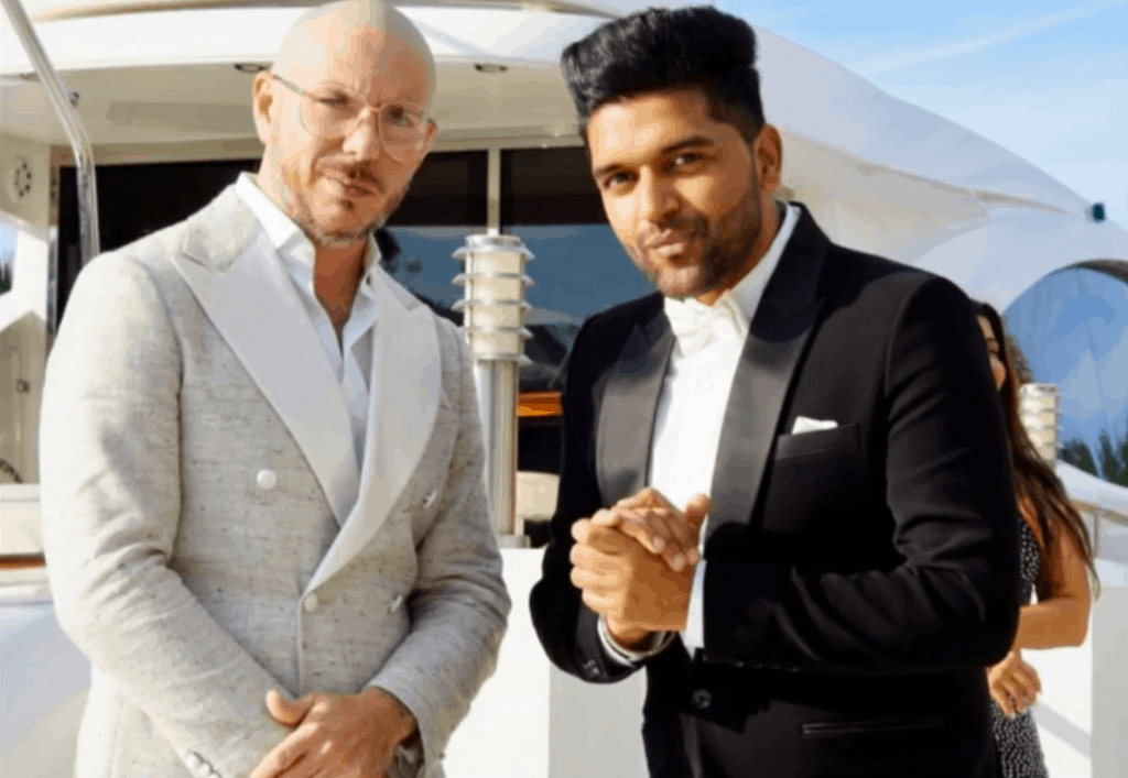 pitbull and guru randawa image in music concert miami video song shoot