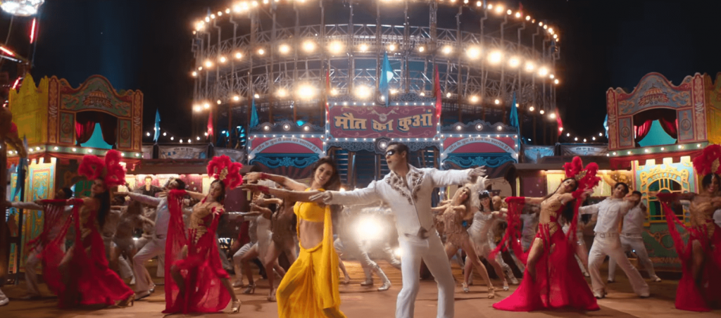 Slow motin song image with salman khan and disha patani